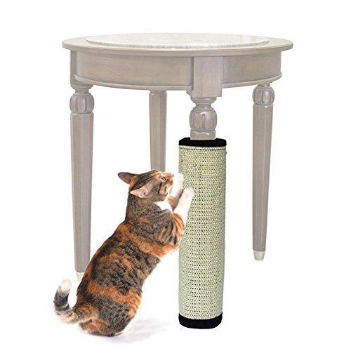 OWIKAR Cat Scratch Mat, Cat Scratcher Kitten Natural Sisal Scratching Post Cat Scratcher Pad With Features Velcro Backing For Wrapping Around Table, Couch, Chair, Furniture (Fabric Unfinished Chair)