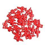 LANDUM 360°Sprayer Nozzle Jet Mister Cloning Machine Hydroponic 25 Pieces Red