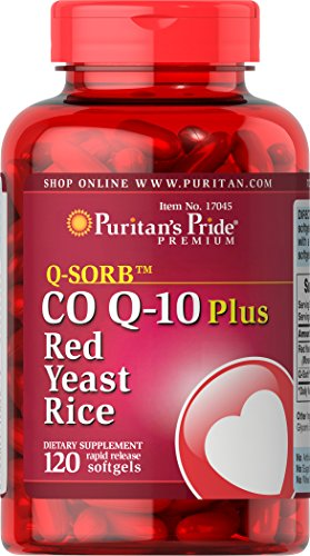 Puritan's Pride Q-SORB Co Q-10 Plus Red Yeast Rice-120 Rapid Release Softgels