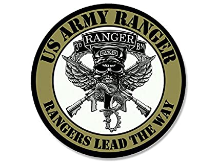 amazon com round 3rd battalion rangers lead the way sticker army rh amazon com Ranger U.S. Army Navy SEAL Logo