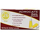Advocate Safety Lancets 26G x 1.8mm 100/bx 20bx/cs, Case of 20