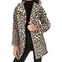 Novelty Trendy ! Kshion Leopard Sexy Women's Lapel Autumn Winter Coats Cardigan Outwear Coat Plush Slim Jacket