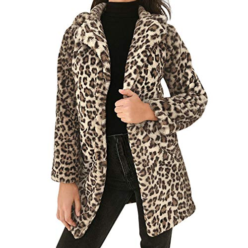 - Faux Fur Jackets for Women Laimeng_World Women Leopard Print Warm Winter Coats Fashion Long Coat Yellow