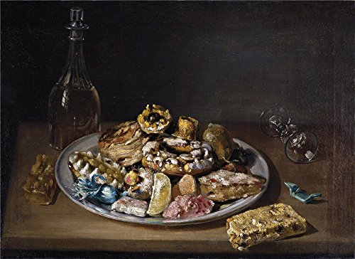 The Polyster Canvas Of Oil Painting 'Parra Miguel Plato De Dulces Primera Mitad Del 19 Century ' ,size: 24 X 33 Inch / 61 X 84 Cm ,this High Resolution Art Decorative Canvas Prints Is Fit For Bathroom Gallery Art And Home Gallery Art And Gifts