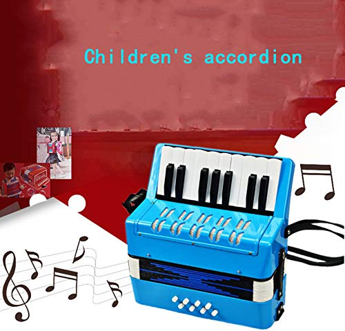 SFQNPA 17K 8B Mini Accordion Children's Accordion Instrument ABS Plastic Piano Accordion Educational Instrument for Students Beginners Children's Instrument (Blue) by SFQNPA (Image #7)
