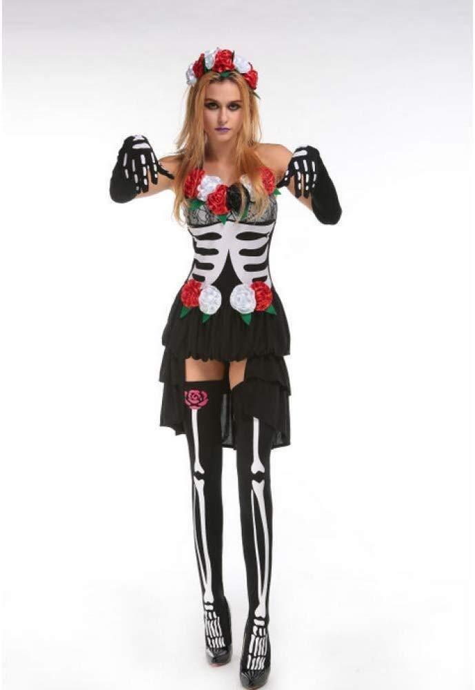 LXDdjws - Disfraz de Calavera de Hueso mecánico para Mujer, X ...