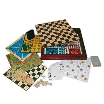 Gueydon Jouets Sas - 800516 - Jeu de Société - Coffret Luxe 200 Jeux - Bois b4fd39d5bc34