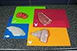 CounterArt Flexible Cutting Mat with Food Icons, Set of 4