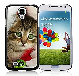 Provide Personalized Customized Samsung S4 Protective Skin Cover Christmas Cat Black Samsung Galaxy S4 i9500 Case 11