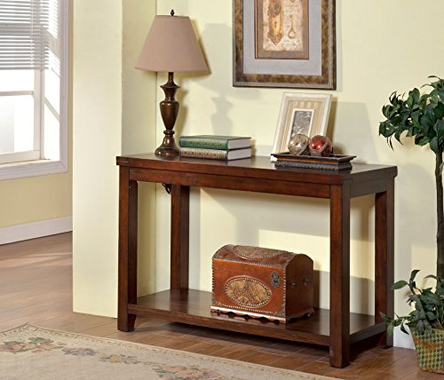 ComfortScape Talla Open Shelf Console Table, Dark Cherry, Medium