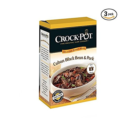 Crock-Pot Delicious Dinners, All Natural Cuban Black Bean and Pork, Pack of 3 ()