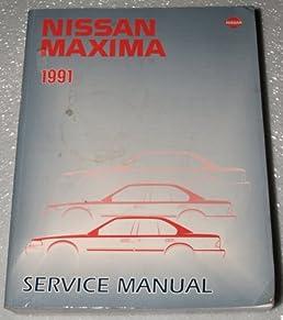 1991 nissan maxima factory service manual j30 series complete rh amazon com 1996 Nissan Maxima 1995 Nissan Maxima
