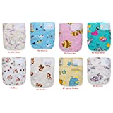 20 Newborn Mom Label Pure & Natural (0-15 Months) Cloth Diapers+20 BAMBOO Inserts