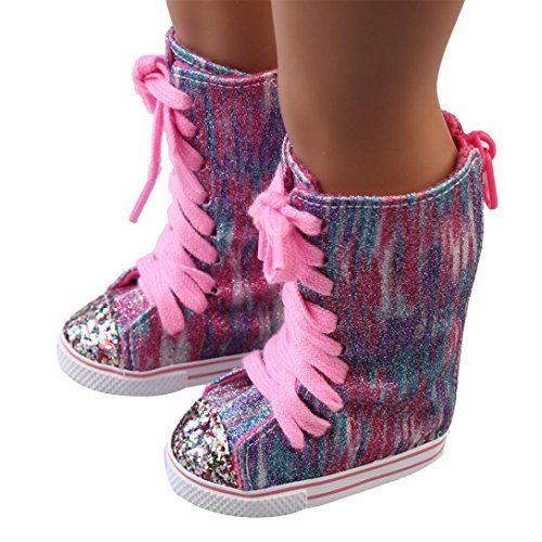 WensLTD Clearance! Glitter Doll Shoes Straps Boots For 18 Inch Our Generation American Girl Doll