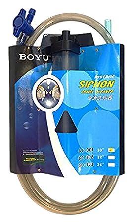 Boyu - Aspirador de Acuario con triángulo de Entrada de Prisma y Control de Flujo: Amazon.es: Productos para mascotas