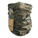 QMFIVE Écharpe tactique camouflage, hommes et femmes unisexe multi-usages bandeau militaire style tête wrap face mesh… 8
