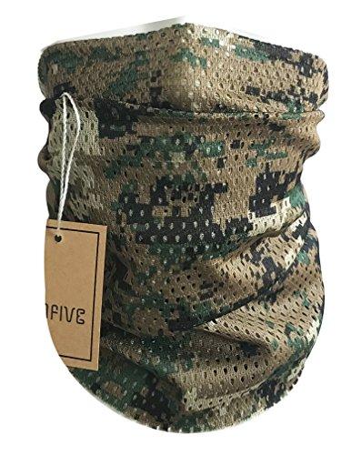 QMFIVE Écharpe tactique camouflage, hommes et femmes unisexe multi-usages bandeau militaire style tête wrap face mesh… 1