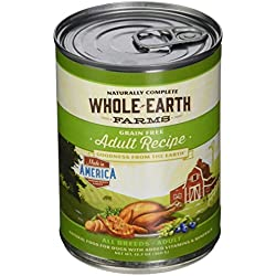 Whole Earth Farms Adult Recipe, 12.7-Ounce, Pack of 12