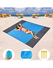 Goodstuffshop Sand Free Beach mat, Quick Drying Ripstop Nylon Compact Outdoor Beach Blanket Best Sand Proof Picnic Mat for Travel, Camping, Hiking and Music Festivals (210x200cm)