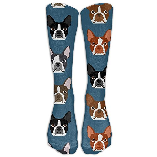 (CHC40 Boston Terriers Blue Faces Compression Socks For Men & Women,Graduated Athletic Socks Reduce Muscle Soreness,Best For Running,Sport,Travel,Nurses,Medical,Pregnancy,Marathon,Flight.)