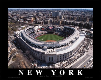 Opening Day Poster (New Yankee Stadium: Opening Day, 2009 Bronx, New York Print Mike Smith (28 x 22))