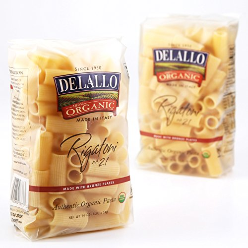 DeLallo Organic Rigatoni #21, 16-Ounce Units (Pack of 16) ()