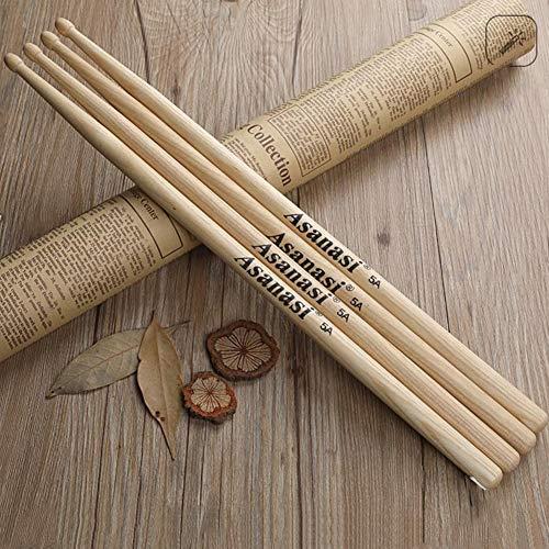 - RONSHIN 5A Oak Drum Sticks Solid Wood Tip Drumstick