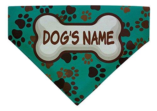 Custom Dog Gift Any Name Personalized Dog Bandana Large Dog Bandana Custom Scarf Dogs Bib Paws ()