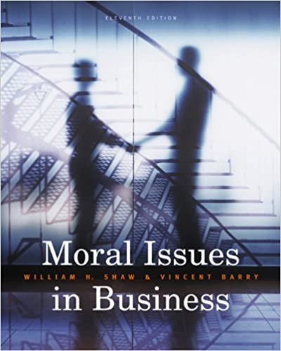 Amazon moral issues in business 9780495604693 william h amazon moral issues in business 9780495604693 william h shaw vincent barry books fandeluxe Gallery