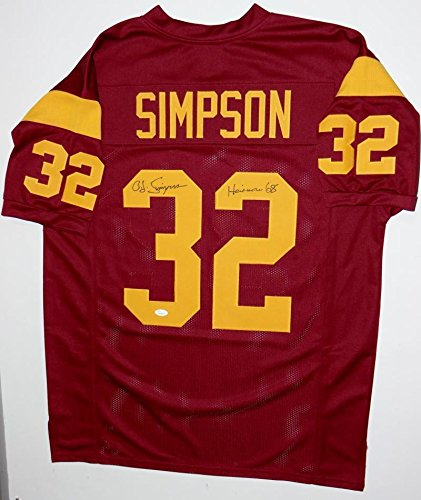 info for 8b4d7 e65ee Signed O.J. Simpson Jersey - Maroon College Style Witnessed ...