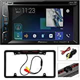 Pioneer AVH-1400NEX Double DIN Apple CarPlay in-Dash DVD/CD/AM/FM Car Stereo Receiver w/Touchscreen Cache Night Vision Car License Plate Rearview Camera - Black CAM810B