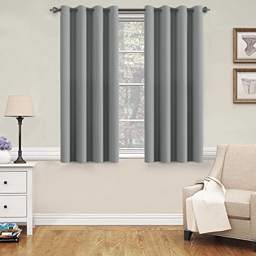 H.Versailtex Blackout Grey Curtains for Bedroom /Living Room, 52