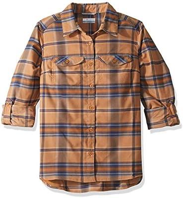 Columbia Silver Ridge Camisa de Franela de Manga Larga para Mujer, Mujer, 1740471, Canyon Gold Ombre Window Plaid, Medium: Amazon.es: Deportes y aire libre