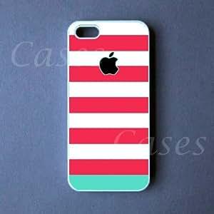 Lmf DIY phone caseiphone 5c Case - Pink Blue Stripes iphone 5c Cover -Lmf DIY phone case