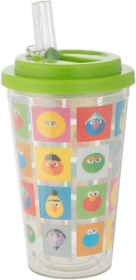 Flip Straw Acrylic Cup Sesame Street 16 oz