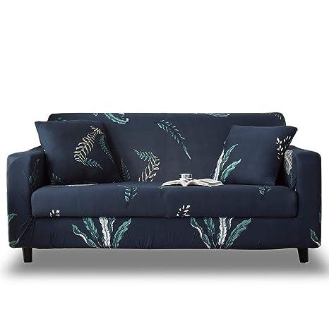 HOTNIU Funda Elástica de Sofá Funda Estampada para sofá Antideslizante Protector Cubierta de Muebles (4 Plazas, Impresión #HC)