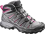 Salomon Women's X Ultra Mid 2 GTX Hiking Shoe, Detroit/Autobahn/Hot Pink, 7 M US