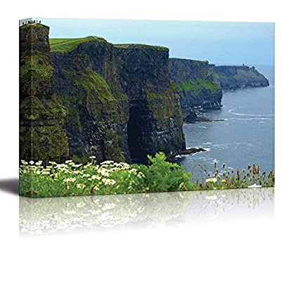 Canvas Prints Wall Art - Famous Cliffs of Moher,Sunet Capture,West of Ireland - 16