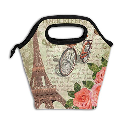 Tour Eiffel Lunch Bags Tote Bag Food Bag Handbag Lunch Cooler Bag For Women's Men's & Kids
