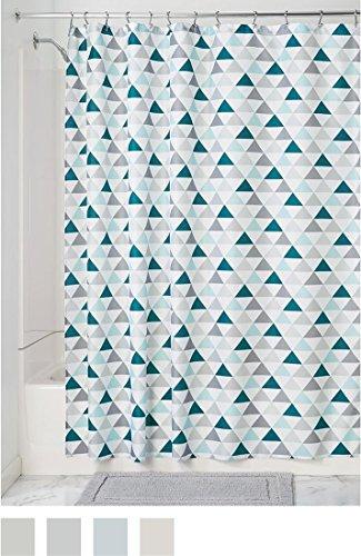 51abNZDAWoL - InterDesign Zana Fabric Shower Curtain
