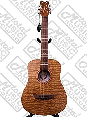Dean FLY BUB Flight Series 3/4 Size Travel Acoustic Guitar, Bubinga