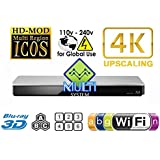 PANASONIC 460 2K/4K Dual HDMI Smart Network Multi System Blu Ray Disc DVD Player 100~240V 50/60Hz for World-Wide Use - 6 Feet HDMI Cable is included by Panasonic