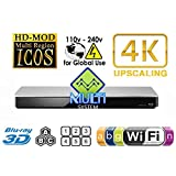 PANASONIC 460 2K/4K Dual HDMI Smart Network Multi System Blu Ray Disc DVD Player 100~240V 50/60Hz for World-Wide Use - 6 Feet HDMI Cable is included