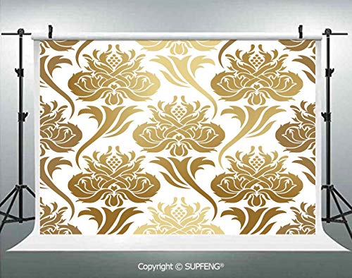 Background Damask Ombre Abstract Image with Floral East Asian Inspired Details Print Decorative 3D Backdrops for Interior Decoration Photo Studio - Tapestry Abstract Damask
