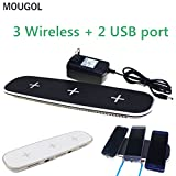 Buildent(TM) New! 3+2 Qi Wireless c-h-arg-er Hub Adapter Charging Pad Wireless c-h-arg-er For iphone X All Qi-Enabled Devices c-h-arg-er