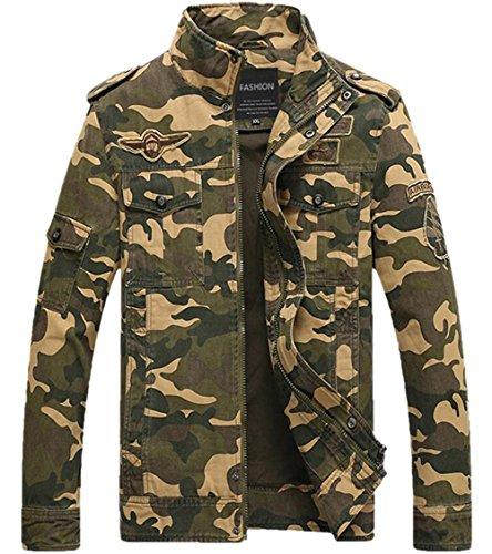 Camouflage Vintage Fitness Militaire Bingley Homme Camo Veste Kaki dtFMqw8q