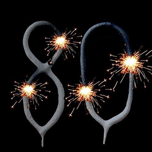 Wunderkerzen-Set für 80. Geburtstag Oder 80.Hochzeitstag als Tortendeko/Fooddeko geburtstagsfee