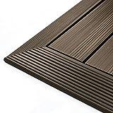 NewTechWood QD-OF-WN QuickDeck Composite Deck Tile Outside Corner Trim, 2-Inch x 1-Feet, Spanish Walnut