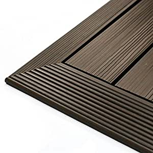 NewTechWood QD-OF-WN QuickDeck Composite Deck Tile Outside