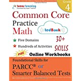 Common Core Practice - Grade 4 Math: Workbooks to Prepare for the PARCC or Smarter Balanced Test: CCSS Aligned (CCSS Standards Practice) (Volume 4)
